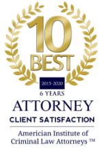 American Institute of Criminal Law Attorneys - 10 Best Client Satisfaction 2015 - 2020